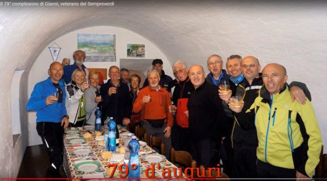 79° compleanno di Ganni veterano dei Sempreverdi