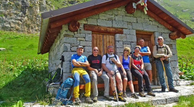 Lago di Boss m 2130, passo Blisie m 2365 e rif Prudenzini m 2235